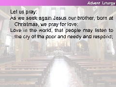 An Advent Liturgy