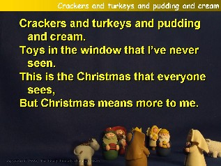 Crackers and turkeys and puddings and cream