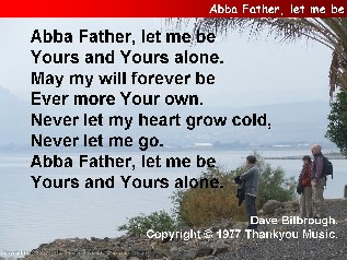 Abba Father, let me be