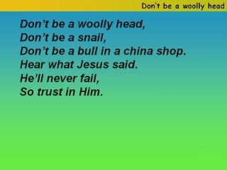 Don't be a woolly head