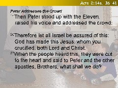 Acts 2:14a, 36-41