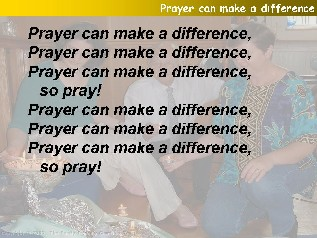 Prayer can make a difference