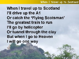 When I travel up to Scotland (One Way)