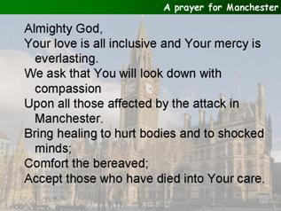 A prayer for Manchester