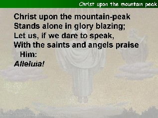 Christ upon the mountain peak