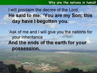 Why are the nations in tumult (Psalm 2)