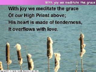 With joy we meditate the grace