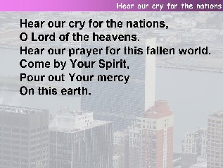 Hear our cry for the nations