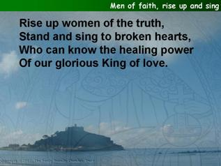 Men of faith, rise up and sing