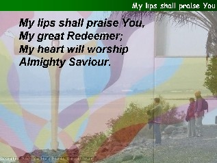 My lips shall praise you