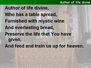 Author of life divine
