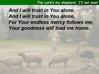 The Lord's my shepherd (Townend)