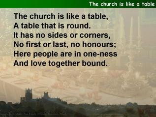 The church is like a table
