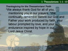 1 Thessalonians 1:1-10