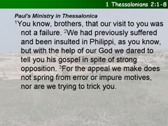 1 Thessalonians 2:1-8