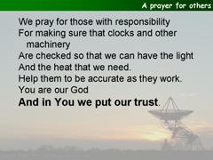 An alternative prayer for others