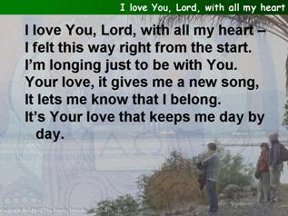 I love You, Lord, with all my heart