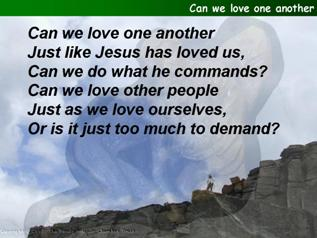 Can we love one another