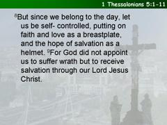 1 Thessalonians 5:1-11