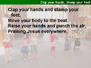 Clap your hands stamp your feet