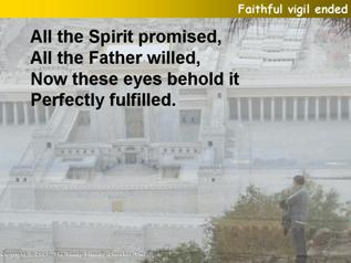 Faithful vigil ended
