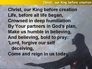 Christ, our King before creation