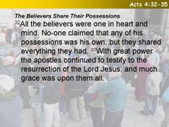 Acts 4:32-35