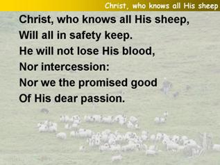 Christ, who knows all His sheep