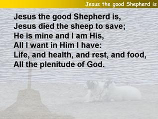 Jesus the good Shepherd is