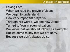 A prayer of confession
