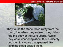 10) The empty tomb