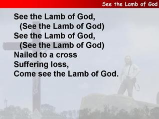 See the Lamb of God