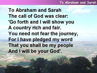 To Abraham and Sarah