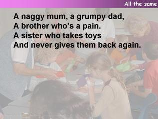 All the same (A naggy mum),
