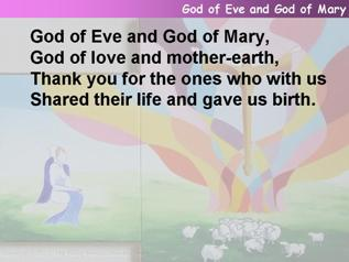 God of Eve and God of Mary