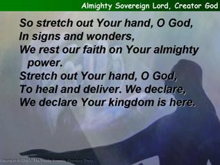 Almighty Sovereign Lord, Creator God