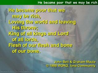 He became poor that we may be rich