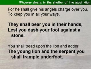Whoever dwells in the shelter of the Most High  (Psalm 91:1-12 (13-16)