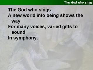 The God who sings