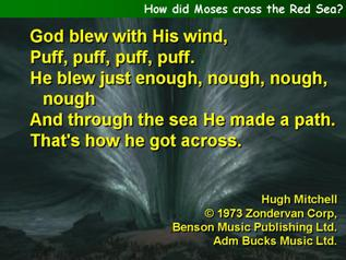 How did Moses cross the Red Sea?