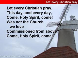 Let every Christian pray