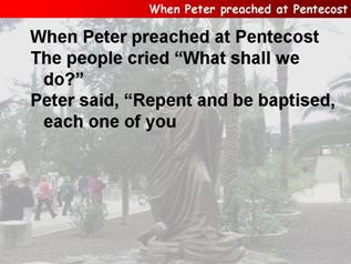 When Peter preached