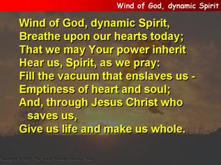 Wind of God, dynamic Spirit