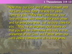 1 Thessalonians 3:9-13