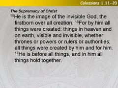 Colossians 1.11-20