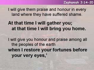 Sing, Daughter Zion (Zephaniah 3.14-20)