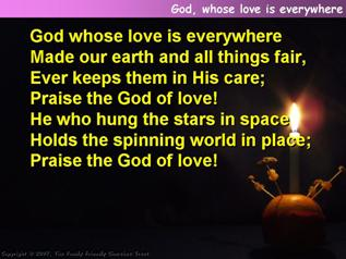 God, whose love is everywhere