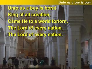 Unto us a boy is born