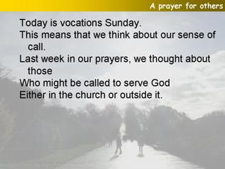 A prayer for Vocations Sunday
