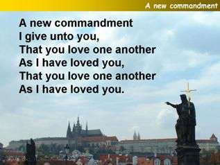 A new commandment,